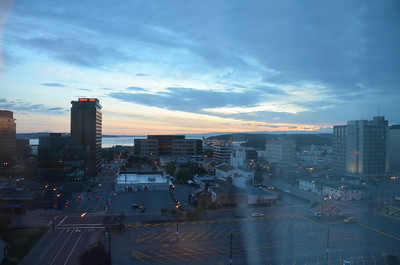Downtown Anchorage at dawn