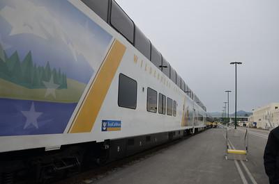 Wilderness Express train to Talkeetna