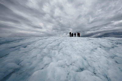 Hiking on the Root Glacier.
