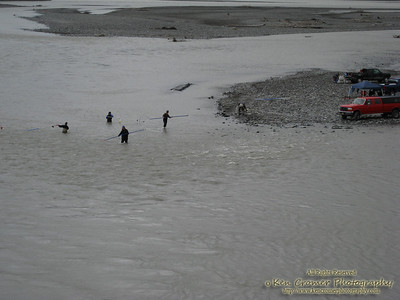Men fishing for salmon in the Copper River