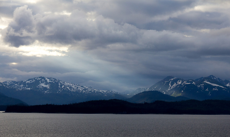 Late in the day along the Inside Passage.