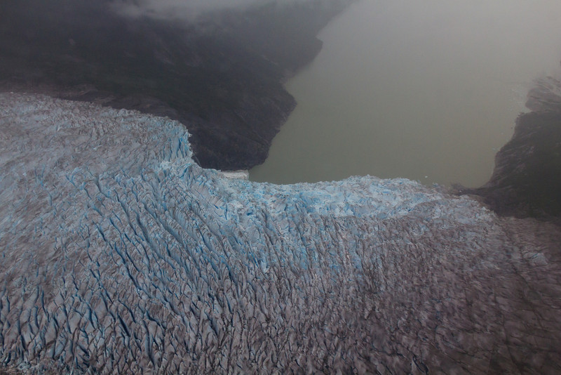 One of the deep glaciers we flew over with a many hundreds of feet high. We had a map with glacier names on it but synchronizing the pics with the map afterward has been tough.