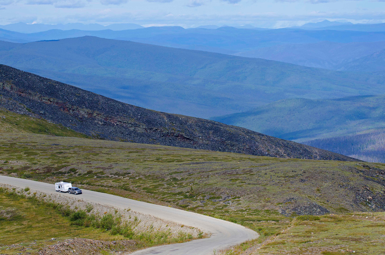 Top of the World Highway, eastern Alaska.