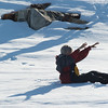 Unable to get up after making snow angels!