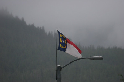 Flags of each state are flown in Juneau