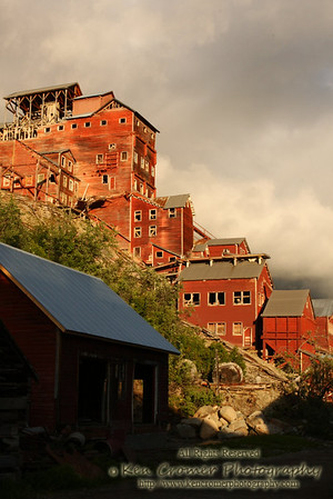 Kennecott Mine house which was shut down in 1938 and has been abandoned ever since.  it is now owned by the Parks Dept.
