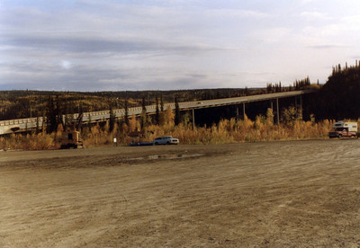 Haul road bridge over the Yukon River