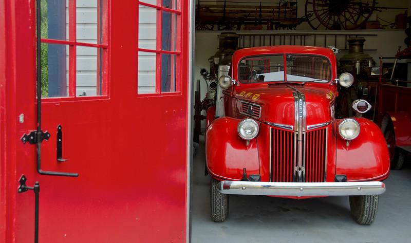 Fire house museum, Dawson City, YT.