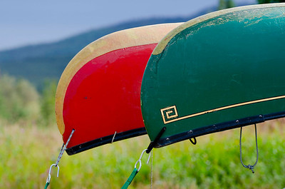 Canoe colors, Forty Mile River, Alaska.
