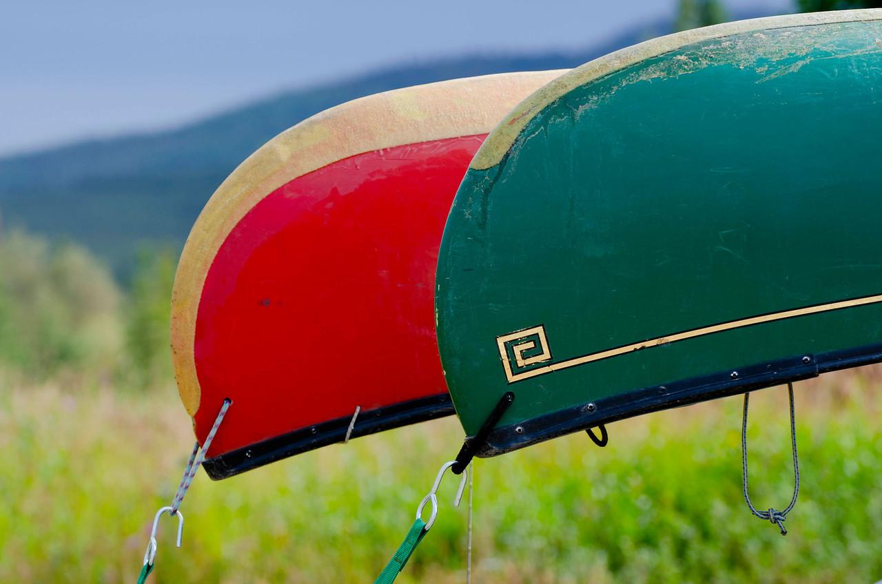 Canoe colors, Forty Mile River, Alaska.