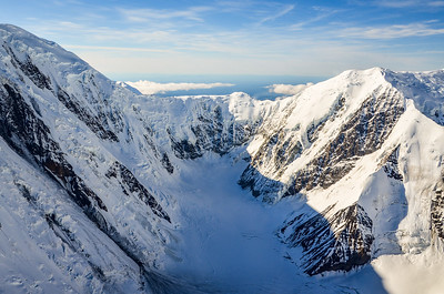 Flying over Mount Denali