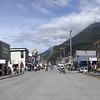 "Broadway, Skagway, Alaska. The crowds were thin due to the fact that two of four Super Cruise Ships left port. On most days during the height of the tourist season, it's like weaving through a sea of people on Main Street, Disneyland. Check out how many passengers a Super Cruise Ships can take on board (this doesn't count the crew):     <a href=""http://www.skagway.com/cruiseshipcalendar.html"">http://www.skagway.com/cruiseshipcalendar.html</a>"