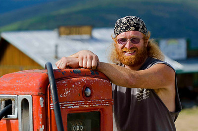 Adam Schneider, gold prospector and coffee shop owner.  Boundary, Alaska.