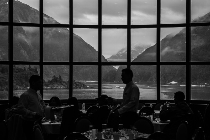 Dining with a view, Tracy Arm Fijord, Alaska