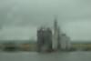 Silo in the rain, Mississippi River