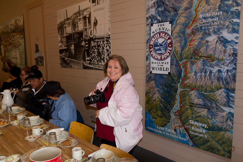 We ate a soup, bread and pie lunch at Bennett, Alaska along the train ride.