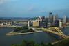 Yellow bridge city, Pittsburgh, PA