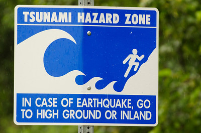 Warning sign, Valdez, Alaska.