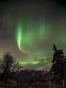 Aurora over the Chugach
