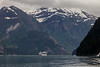 To help scale this Tracy Arm scene realize the cruise ship is 1000 feet long with 17 levels.