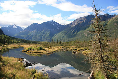 Eagle Lake, Chugach Mountains, Alaska.