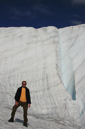 Muur van ijs, Wrangell - St Elias National Park, Alaska.