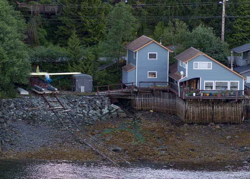 Ketchikan. Not many Texans have a seaplane in their backyard like this guy.