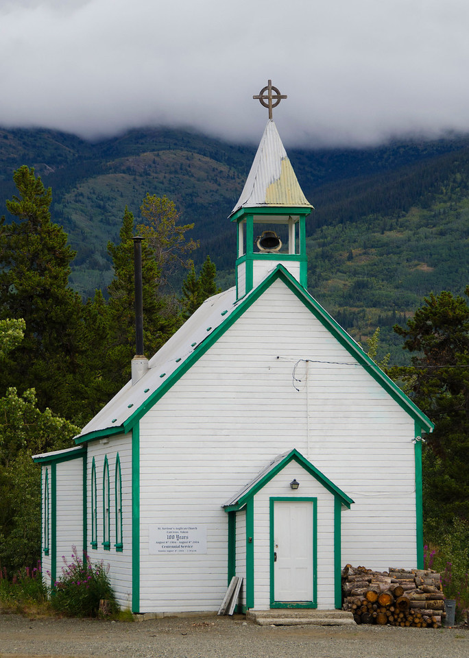 St. Saviour's Anglican Church built in 1901.  Carcross, Yukon Territory, Canada.