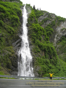 Waterfall along Thompson Pass heading south to Valdez