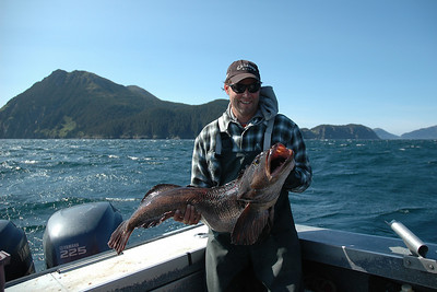 Troy with a nice lingcod.