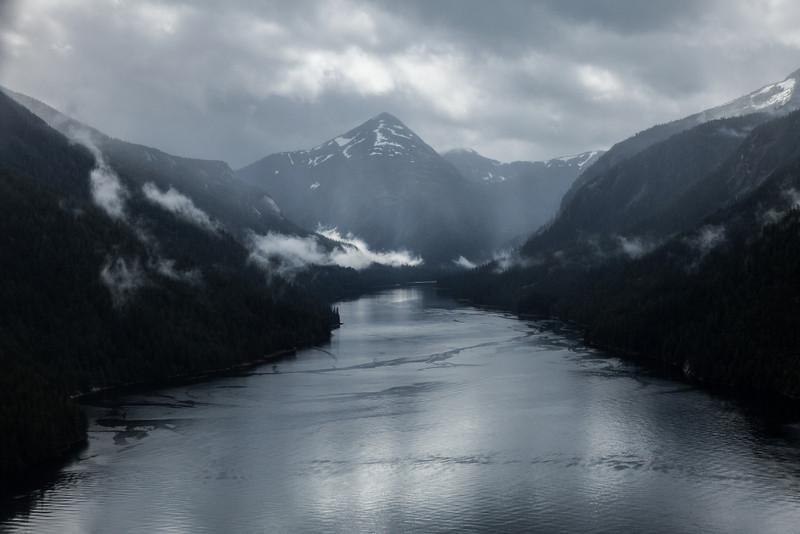 Fog fijords, Ketchikan, Alaska