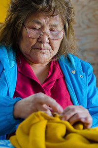 First Nation (Selkiirk tribe) grandmother,  Pelly Crossing, YT.