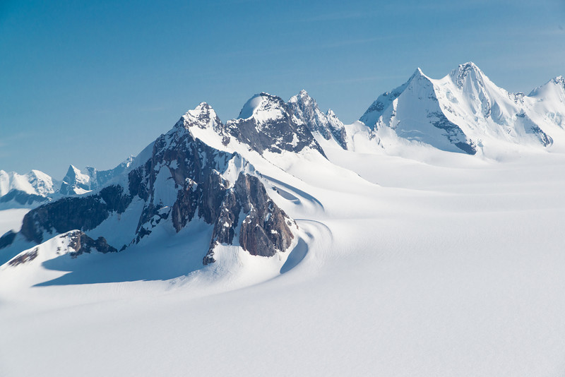 Juneau Icefields and mountain peaks