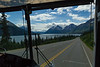 The bus ride on the way back to Skagway was quite scenic, enhanced by our front row seats.