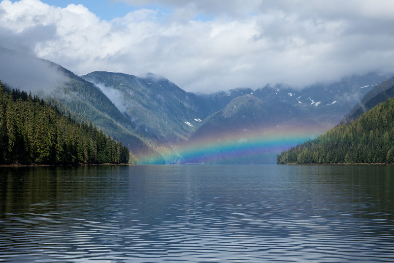 Rainbow in the fijords, Ketchikan, Alaska