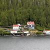 Boat Bluff Lightstation, on the south end of Sarah Island in the Tolmie Channel, along British Columbia's Inside Passage waterway. British Columbia, Canada.