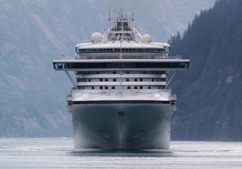 Big boat on our six. Tracy Arm.