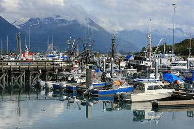 De jachthaven van Valdez, Alaska.