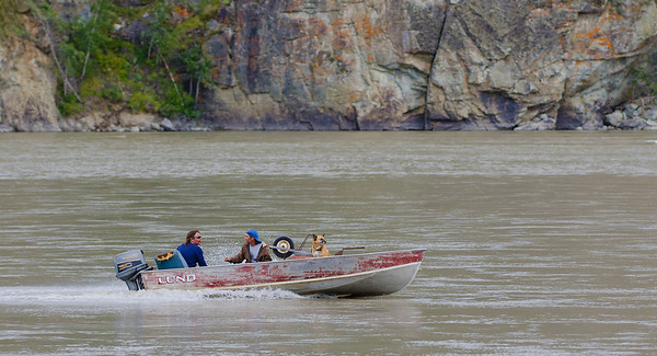 Three amigos.  Yukon River at Dawson City, YT, Canada.