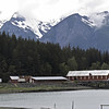 Zooming in on Chilkat Mountains and obsolete cannery, Letnikof Cove.