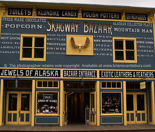 """Skagway Bazaar, unique building reconstructed in the pioneering style. SEE ALSO:    <a href=""""http://www.blurb.com/b/893025-north-to-alaska"""">http://www.blurb.com/b/893025-north-to-alaska</a>"""