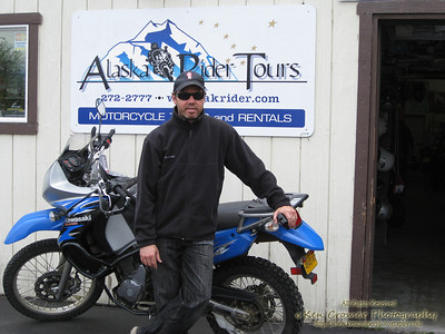 Me as we returned our bikes to Alaska Rider Tours out of Anchorage.  We had a few problems with the bikes along the way but luckily never stranded. The staff did a great job of getting things remedied for us quickly though.  Big thanks guys!