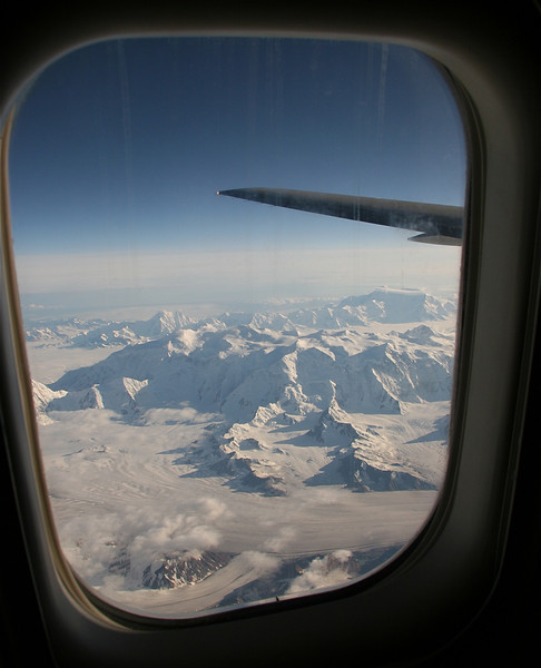 Uitzicht over Wrangell - St Elias National Park, Alaska.