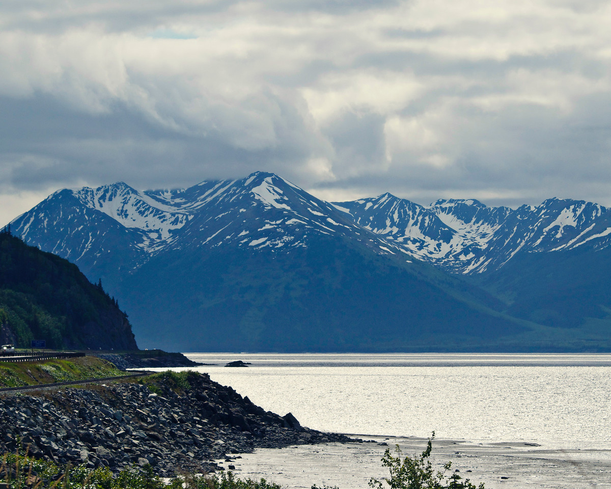 Seward Highway Leaving Anchorage, Alaska  By Valerie Mellema  June 10, 2011