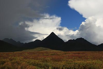 De Alaska Range, Denali Highway, Alaska.