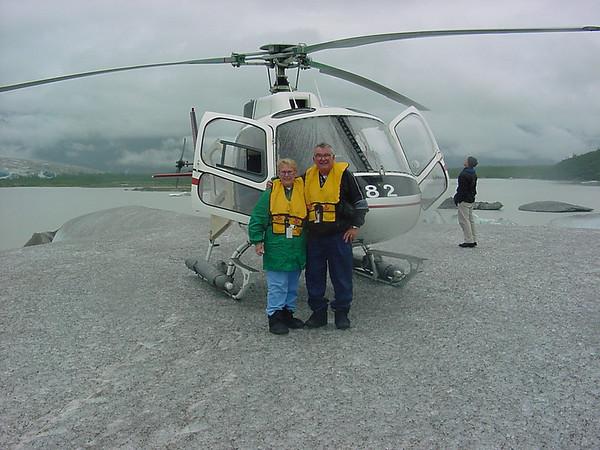 Alaska  landed on glacier