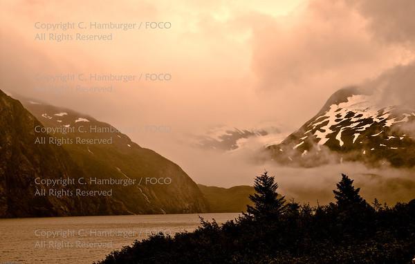 20070805-DSC_1842, Sunset- Portage Glacier