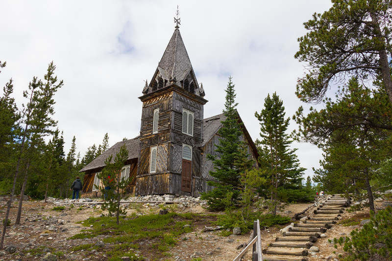 St. Andrew's Church in Bennett, Alaska ghost town.