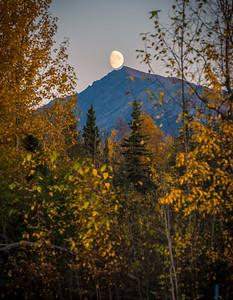 Moonrise over the Chugach