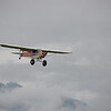 Piper Supercub on approach to Majestic Valley Lodge landing strip